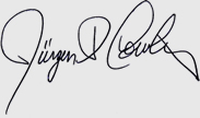 Signature of Jürgen Cowling, P.T. President Healing Hands Physical Therapy & Pain Relief Centers